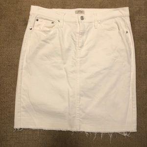 White denim JCrew skirt size 30